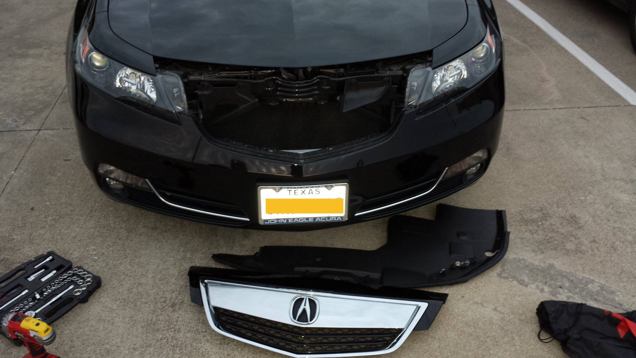 Remove the front Grill or Beak on 2013 TL - AcuraZine ...