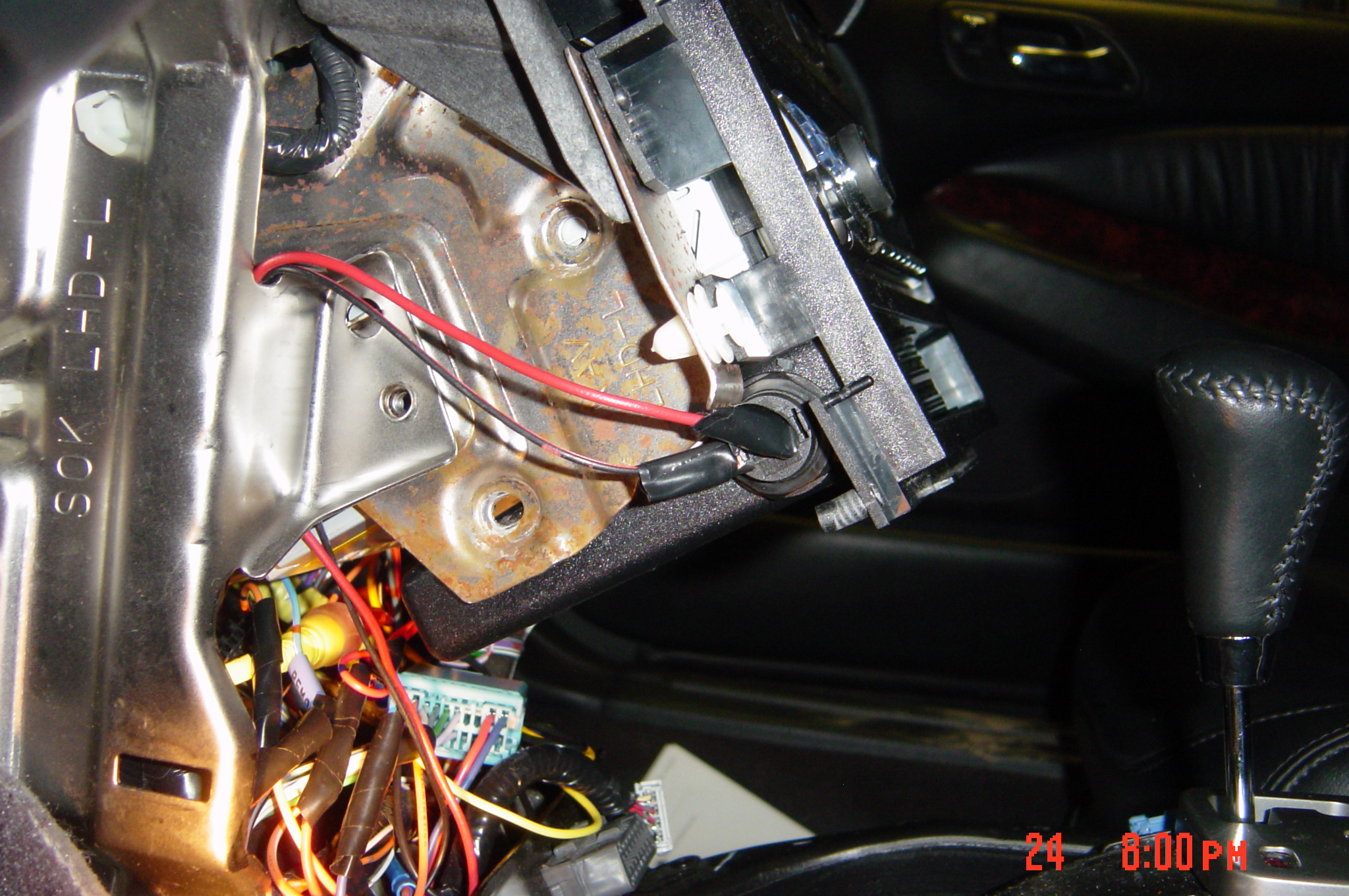 2002 Acura Tl Com Wiring Wiringsc Htm Diagram For Electric Guitar The Other Wire Is Connected To Parking Brake Ground I Didnt Have A Solder Gun So Just Twisted Wires And Wrapped It With Tape